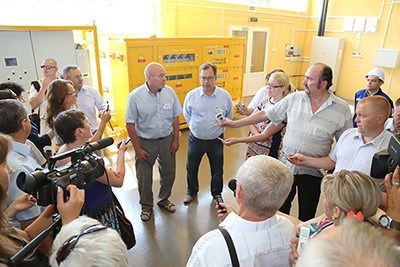 Minsk Region Governor visits Passat holding companies in the course of press tour